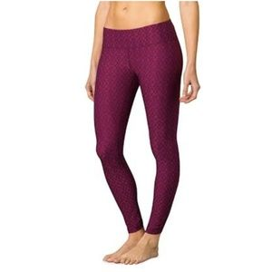 PrAna Misty Yoga Viola Jacquard Leggings Medium